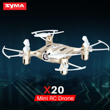 все цены на Mini Drone RC Dron SYMA X20 Quadcopter 2.4G 4CH 6-aixs Gyro RTF with Headless Mode Altitude Hold 3D-flip Latest Aircraft онлайн