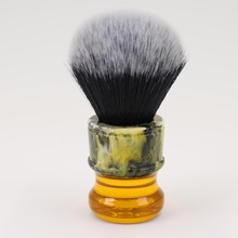 Hitam / Putih Synthetic Fiber Men Shave Brushes