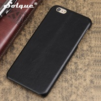 Solque Leather Case For IPhone 6 6S Plus Cell Phone Retro Vintage Slim Natural Real Genuine