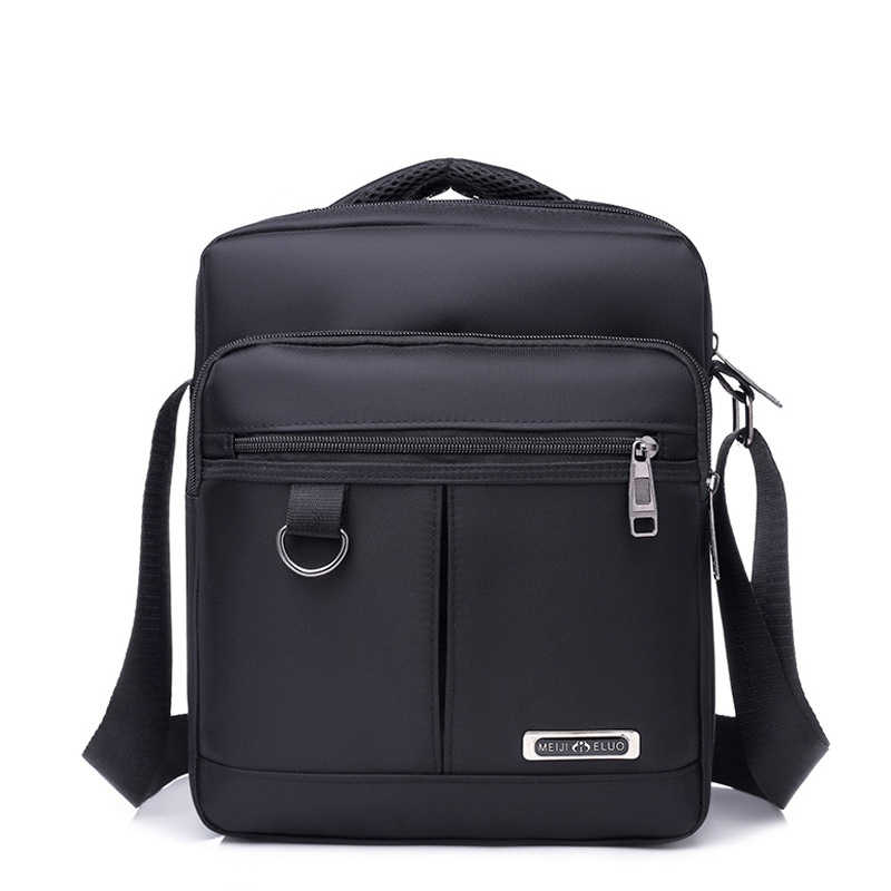 High Quality Waterproof Nylon Business Shoulder Bag For Men 2018 New Solid Nylon Crossbody Bags For men Black Blue bolso hombre