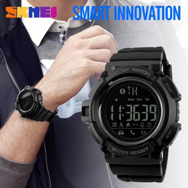 SKMEI Men Smart Sport Watch Bluetooth Calorie Pedometer Fashion Men