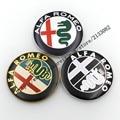 20 pcs new Style ouro / preto / nova cor 74 mm ALFA ROMEO para Mito 147 156 159 166 Giulietta aranha GT logotipo do carro emblema emblema autocolante