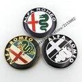 20pcs new Style gold/black/new color 74mm ALFA ROMEO for Mito 147 156 159 166 Giulietta Spider GT Car Logo emblem Badge sticker