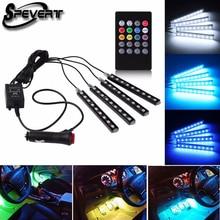 Spevert 4×9 LED 5050 RGB автомобиль внедорожник подкладке торшер атмосферу indoor украшения неоновые полосы света полосы + дистанционное управление