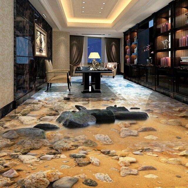 Freies Verschiffen 3D Stereo Meer Sandstein Fluss Wohnzimmer Bad  Benutzerdefinierte Schlafzimmer Selbstklebende Tapete Wandbild