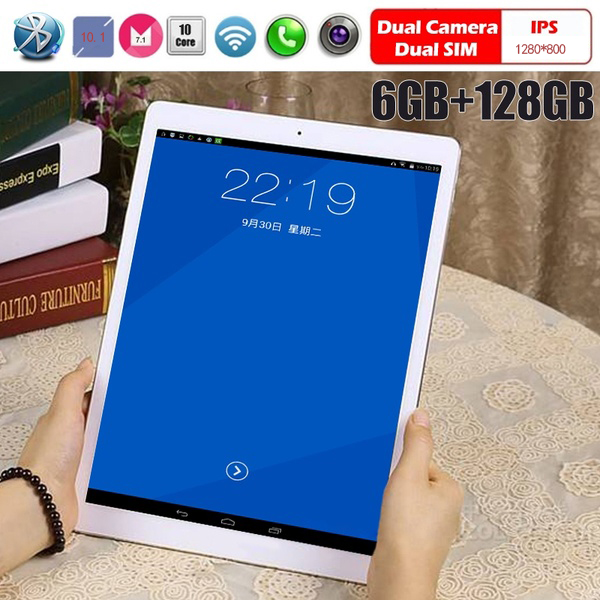 2019 4G Phone Call Tablet  10.1-inch Tablet Android 7.1 Tablet Pc With 6G Running Memory And 128G Hardware Memory 1280*800IPS