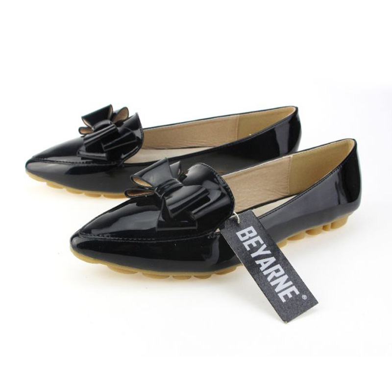 Image 5 - BEYARNE spring flats single shoes woman casual bow pointed toe shallow mouth by factory EU 33 43single shoespointed toeshoes woman -