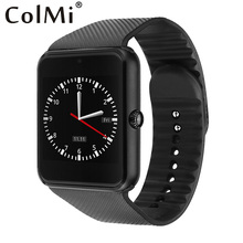 Clearance ColMi Sensible Watch GT08 Clock With Sim Card Slot Push Message Bluetooth Connectivity Android Telephone Smartwatch GT08