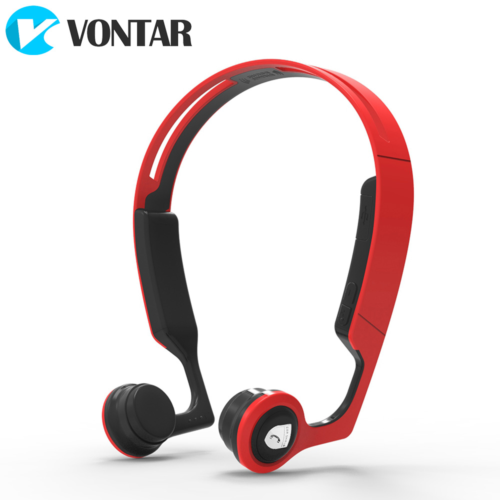 VONTAR ES268 Bone Conduction Headset Bluetooth V4.2 Wireless Sports headphone Sweat proof Hands Free for Sports and Outdoors