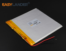 3.4x94x95mm 3.7V 4000mAh Polymer Li-ion Battery For Bluetooth Notebook Tablet PC P85 Consumer electronics safety lamp 349495