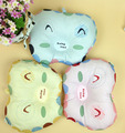 28*21 cm Crianças Bebê Travesseiro De Enfermagem Urso Animal Padrão Travesseiro Bebê Dormindo Encosto de Cabeça Do Bebê Recém-nascido Cabeça Chata Travesseiro azul Rosa