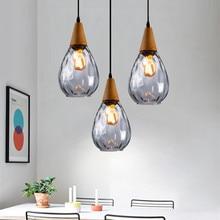 Kitche Pendant Light Bar Glass Pendant Lighting Modern LED Lamp Hotel Wood Lights Room Study Office Ceiling Lamp Bulb Include цена в Москве и Питере