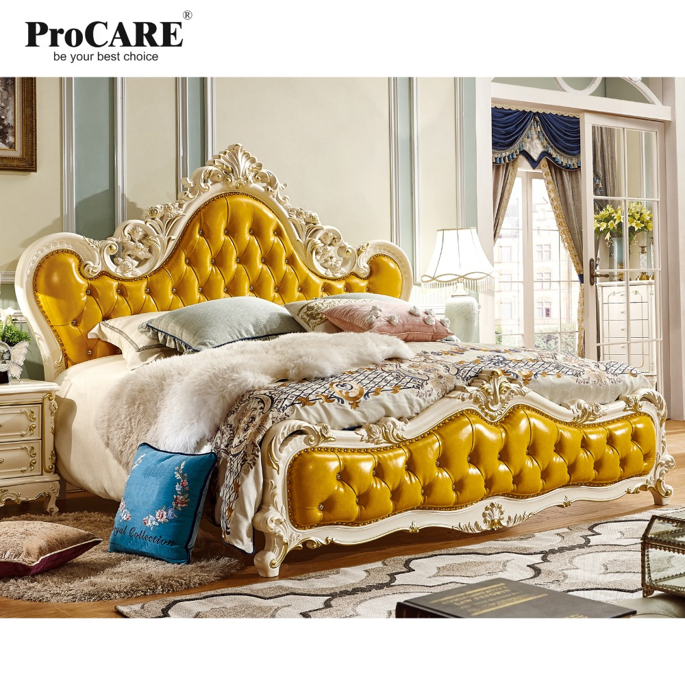 luxury European and American style Solid Wood Leather Princess Bed, 1.8 Meters Wedding Bed, Master Bedroom enhanced version of european style metal bed iron bed double bed pastoral style student bed 1 5 meters 1 8 meters