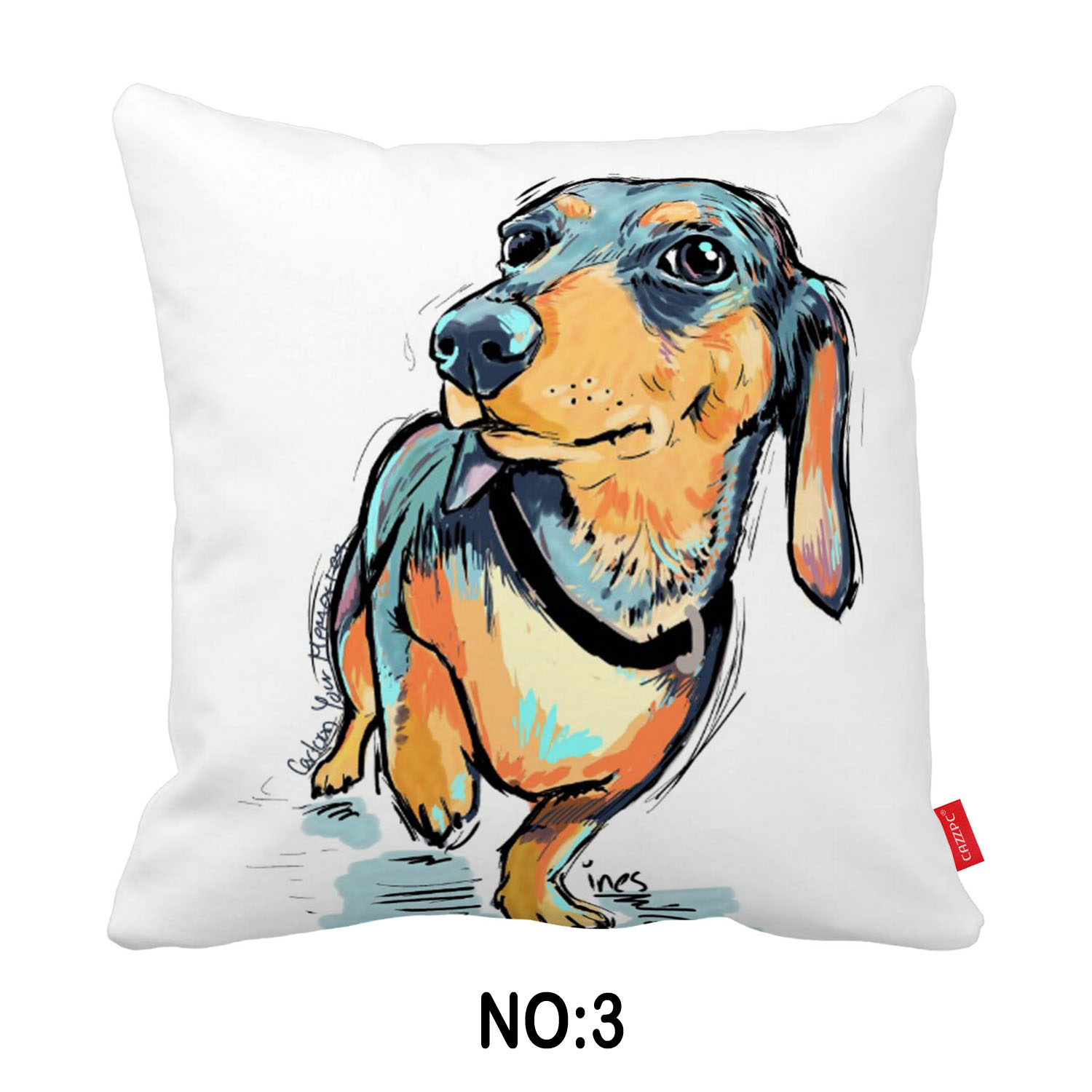 Pop Art Pets Dachshund Bichon Dog Collage Print Custom Car Sofa