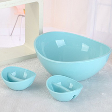 28 25cm Blue Bowls Set Fruits And Vegetables Salad Bow Multifunctional Storage Salad Bowls Household Outdoor