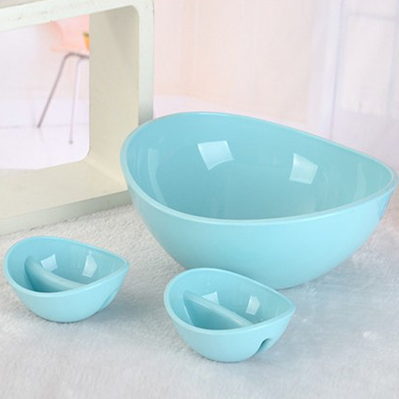 28 25cm Blue Bowls Set Fruits And Vegetables font b Salad b font Bow Multifunctional Storage