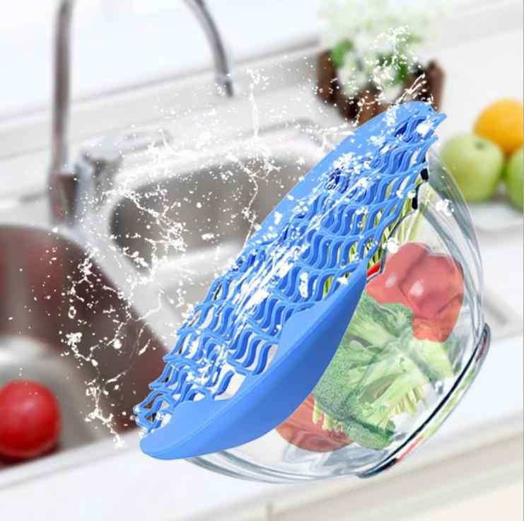Tapete de Silicone Coador Coador Net Degelo Descongelamento da Carne Legumes Fruta Net Pad