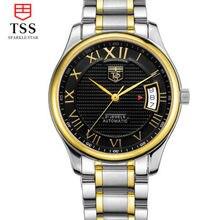 Роскошные Tss Часы Мужчины Сапфировое Стекло Дата Нержавеющей Стали Мужские Спортивные черные Наручные Часы автоматические Механические Часы Reloj Hombre