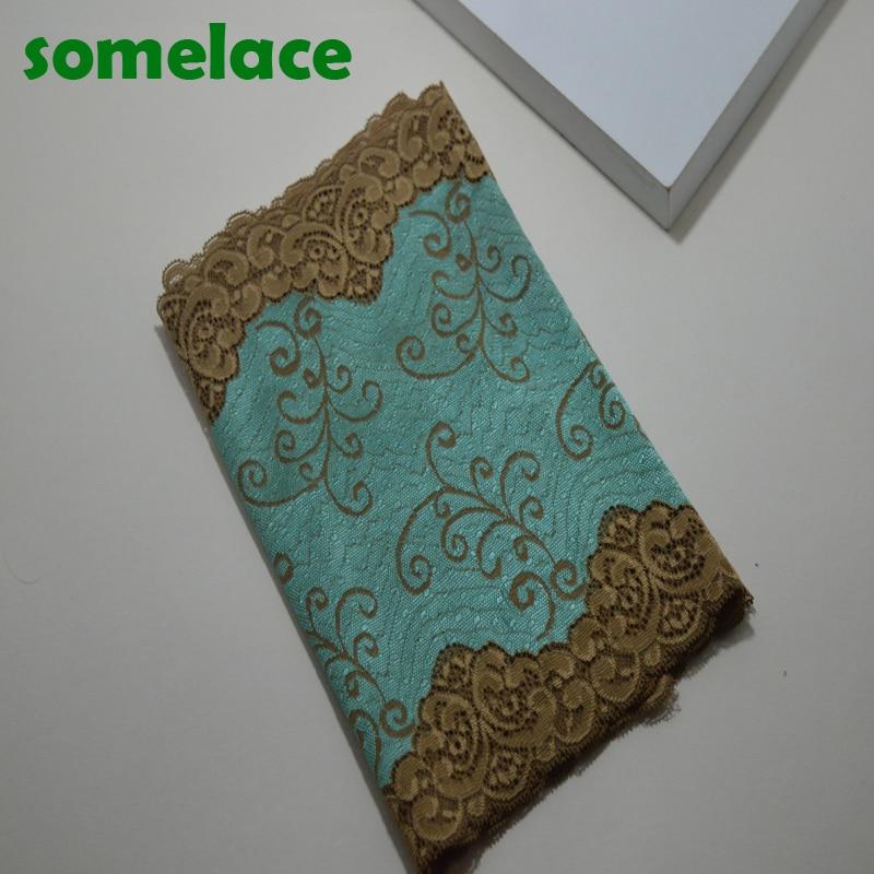 1Y 24.5 CM Yeni varış yeşil Elastik Dantel Kumaş, Dikiş Trim Düğün Dantel, DIY Konfeksiyon Accessories17112518