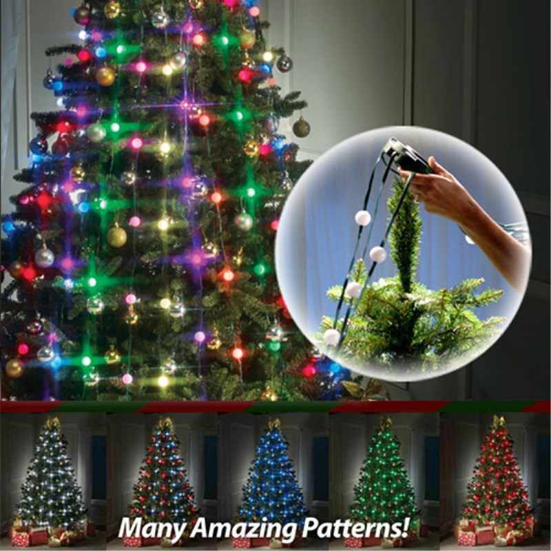 Led Bulbs Flashing Christmas Tree Dazzling Light String Lamp New Year Home Decoration For Festive Atmosphere