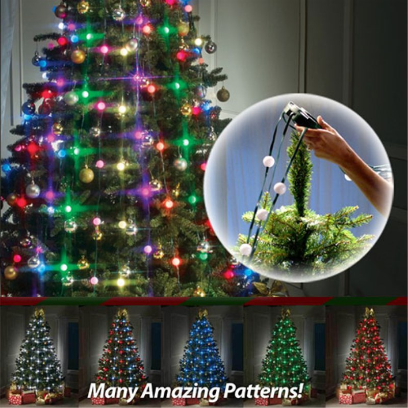 Led Bulbs Flashing Christmas Tree Dazzling Light String Lamp New Year Home Decoration For Home Festive Atmosphere