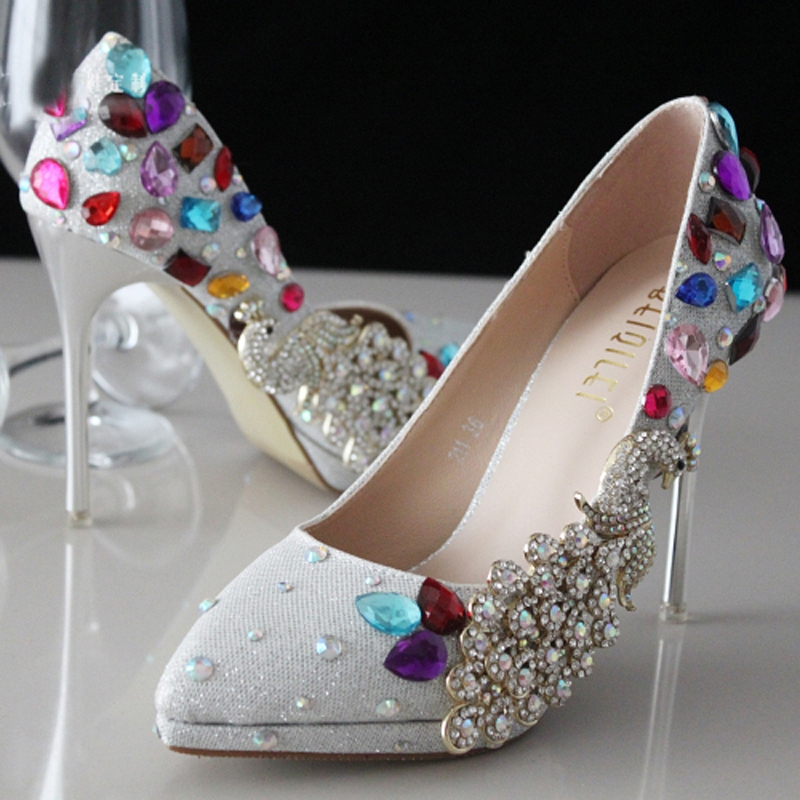 Popular Silver Bridal Shoes Low Heel-Buy Cheap Silver