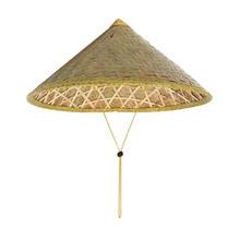 Tejido hecho a mano de bambú Natural pescador paja campanario sombrero de  cubo de mimbre sombreros chino Stylsih turismo sombril. 3181ebdf4b2