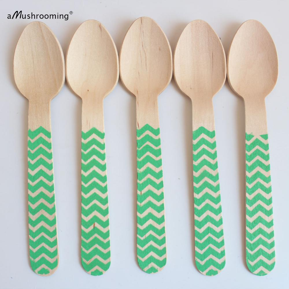 events Decorative wooden spoons Birthday party utensils Wood cutlery NEW.