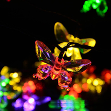 NEW Butterfly or Animal Decoration Fairy Lights 5M 20leds Outdoor Led Copper Wire String Lights Christmas Festival Party lamps