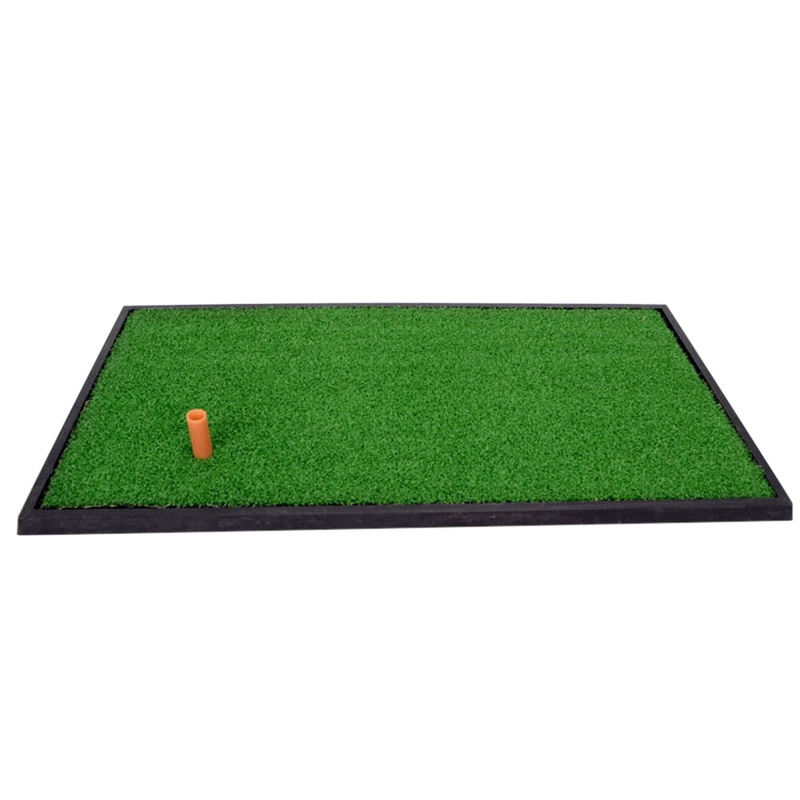 Golf Practice Mat Nylon Rubber Residential Training Hitting Pad Thicken Golf Training Artificial Divot Golf Training Aid golf putting mat mini golf putting trainer with automatic ball return indoor artificial grass carpet