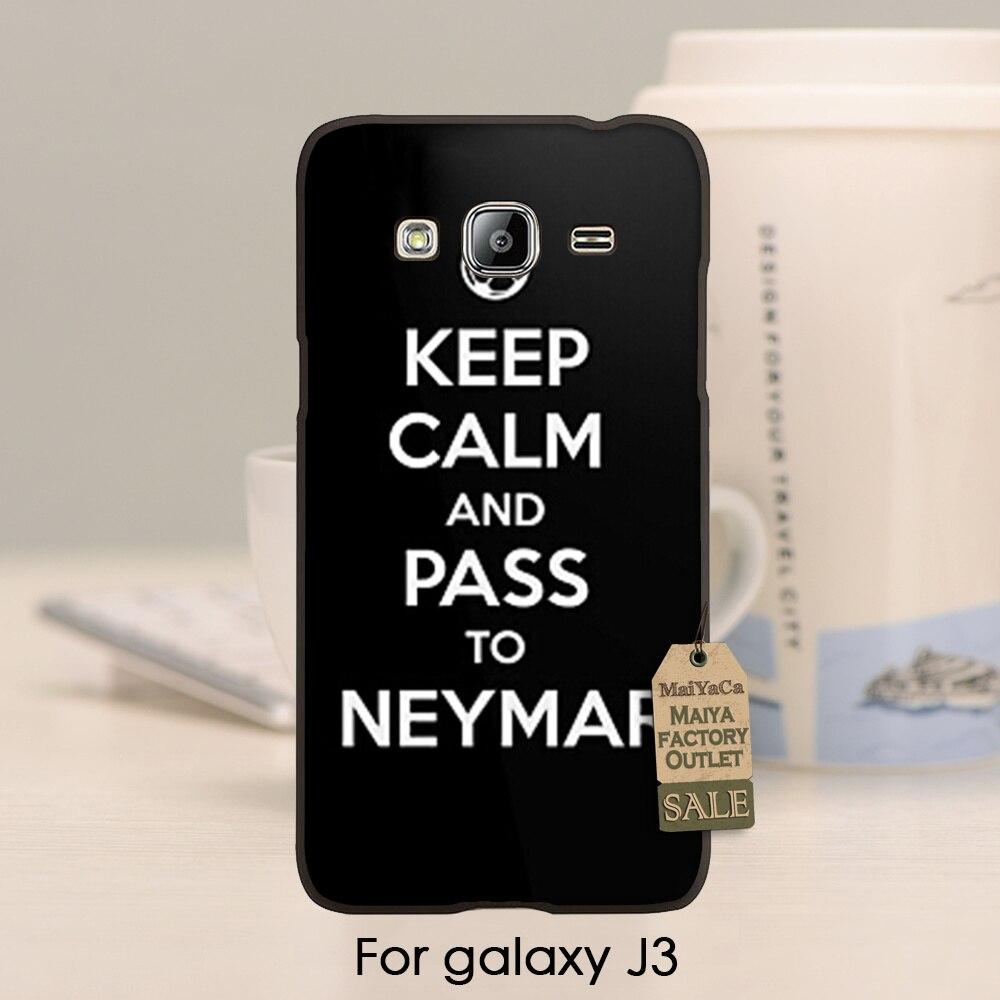Lujo de gama alta de teléfono accesorios para neymar j3 2015 case guarde la calm