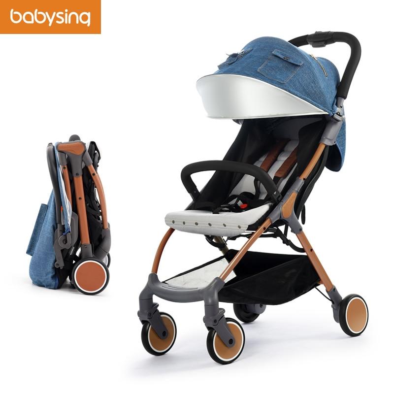 ᗔBabysing cochecito de bebé Cool moda ligero plegable coche de bebé ...
