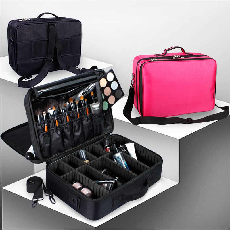 แต่งหน้าศิลปินอุปกรณ์เสริมความงามระดับมืออาชีพเครื่องสำอางค์และกระเป๋าเครื่องสำอางค์กึ่งถาวรเล็บ Multi-Lay