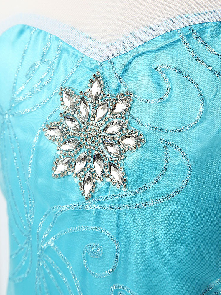 HTB12vh XKGSBuNjSspbq6AiipXaV Girls Elsa Dress Costume Princess Anna Dresses Cosplay Party Summer Baby Kids Children Fancy Baby Girl Clothes elza vestidos