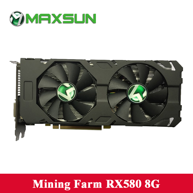 US $390 99 |MAXSUN Graphics card RX580 8G Overseas Edition AMD 256bit GDDR5  14nm 2304units 8000MHz 1257 1340MHz DirectX12 video card for ETH-in