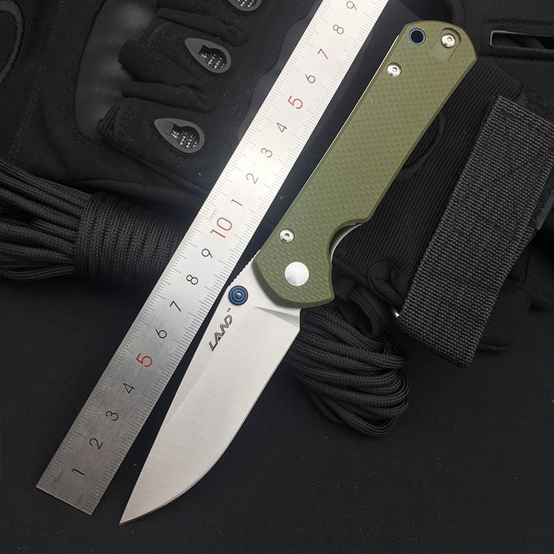Land 911 Folding Knife 12C27 Blade G10 Handle Outdoor Hunting Camping Survival Tactical Super Military Pocket EDC Knives Gift