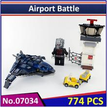 Lepin 07034 Compatible with Legoe Super Heroes Avangers Airport Battle 76051 Building Blocks Model Educational Toys For Children