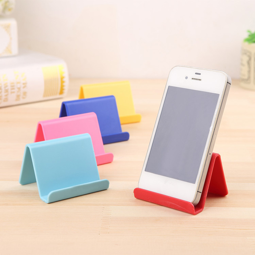 Universal Plastic Phone Holder Stand Base For iPhone 7 8 X for Samsung for Xiaomi Smartphone Candy Color Mobile Phone Bracket