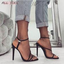 купить ALL YIXIE 2019 Sandal Woman Shoes Ankle Strap Cross-tied Women Sandals Sexy High Heels Open Toe Mujer Sandalias Size 35-42 по цене 1074.42 рублей