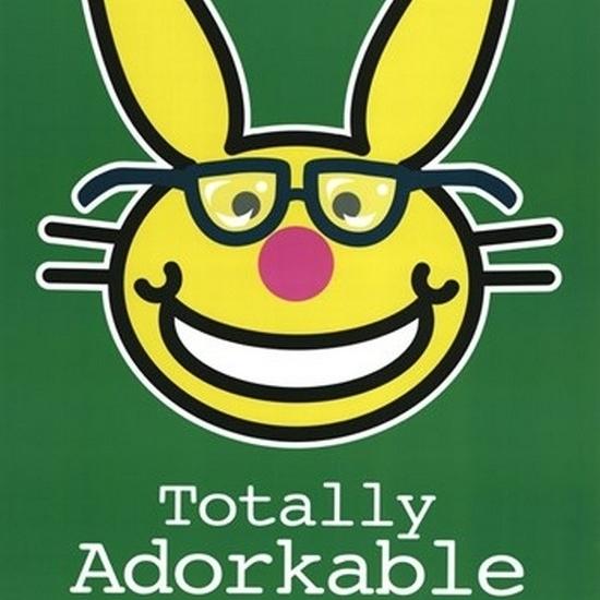 Happy Bunny – Nerds Laminated Poster Print (24 x 36)