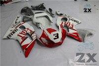 完全なフェアリングyamaha yzf r6 r6 1998 1999 2001 2002プラスチック射出オートバイフェアリングuv 21