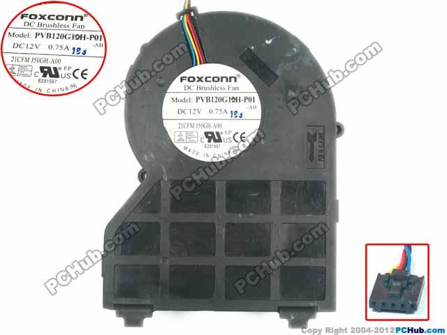 Emacro For Foxconn Pvb120g12h P01 Ab Server Blower Fan