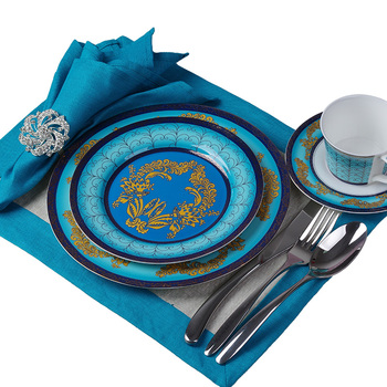 Luxury Bone China Dishes and Plates Sets Blue Ceramic Dinner Plates  Restaurant Supplies  Serving Dish