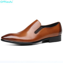 New Genuine Leather Oxford Business Men Shoes Slip On Formal Shoes Men Shoes Pointed Toe Men Dress Shoes For Wedding christia bella italian green genuine leather men shoes fashion pointed toe slip on men dress shoes party business formal shoes