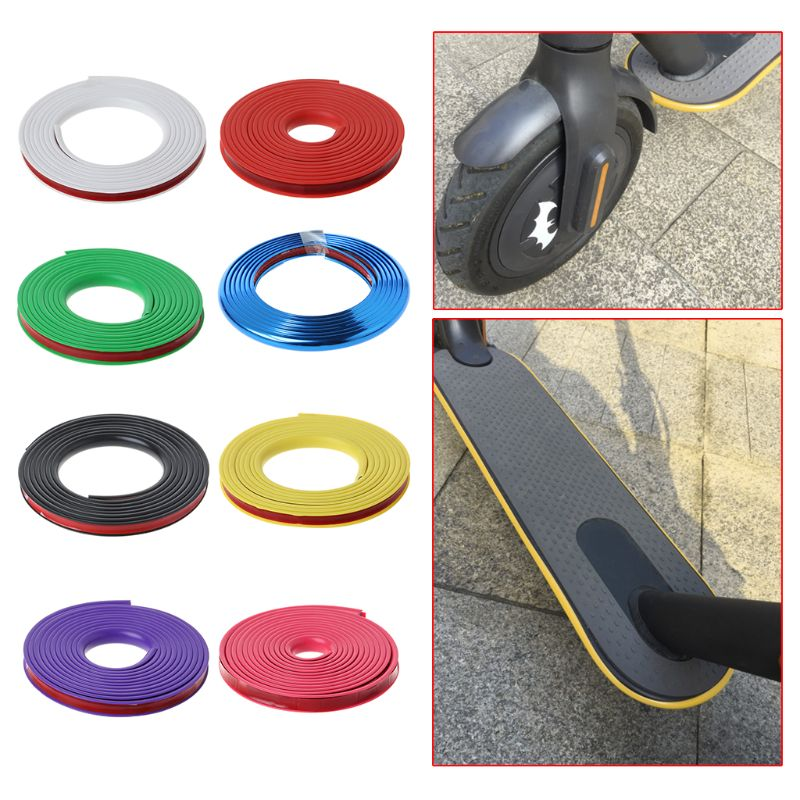 1 Pc Electric Scooter Anti-collision Protection Strip For Xiaomi Mijia M365 Skateboard Body Bumper Scratchproof Scratch Strips ethernet cable
