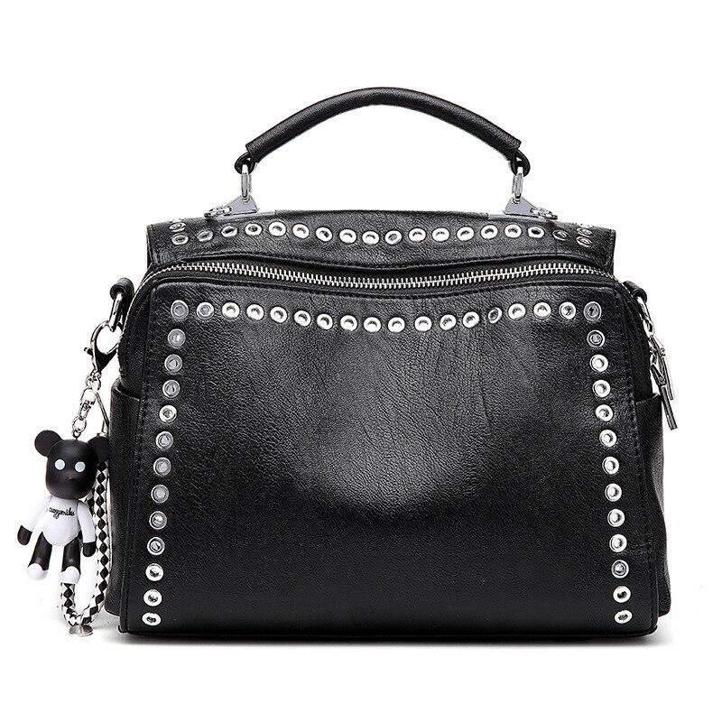 Mode Designer femmes sacs à main en cuir PU sacs à bandoulière rétro clouté sac à main fourre-tout femmes Messenger sacs voyage sacs à bandoulière
