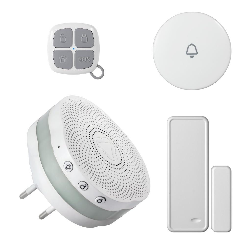 ФОТО Gateway Human Body Sensor Door Window Sensor Security Alarm Wireless APP Control APP Color Night Light Home Shop Doorbell Alarm