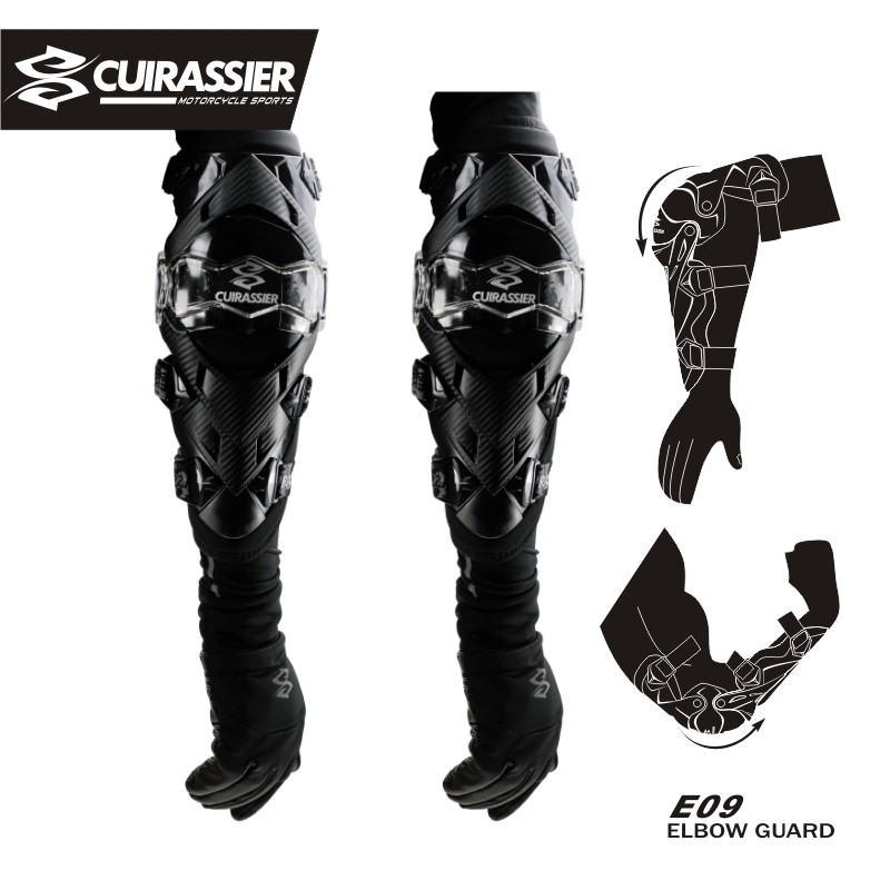 Cuirassier Elbow Protector Motorcycle gear knee elbow pad Motocross Downhill Dirt Bike MTB Protection Off Road