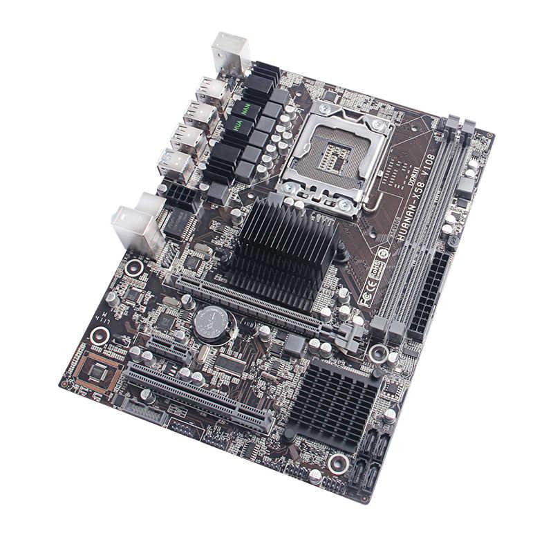 Абсолютно новая настольная материнская плата HUANAN ZHI X58 LGA1366 материнская плата с процессором Intel Xeon X5675 3,06 ГГц USB3.0 ram 2 канала