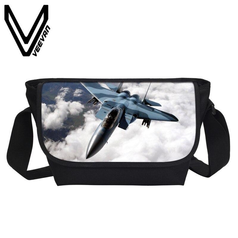 VEEVANV War thunder 3D Pattern Printing Men's Messenger Bag Crossbody Bag School Student Shoulder Bag Air Combat Bags Brand 2019